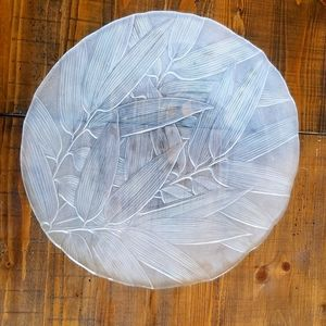 Beautiful Round Glass Serving Platter